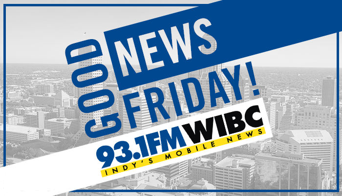 A graphic expressing Good News Friday with 93.1 WIBC. everyone likes to hear good news so enter yours!