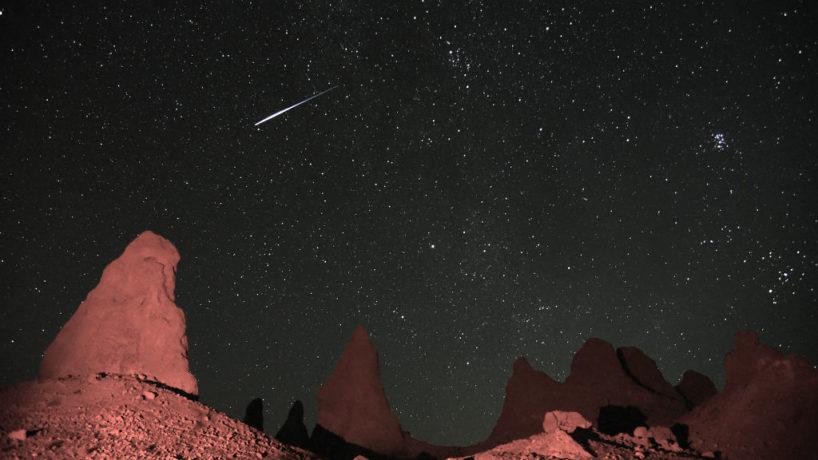 Meteorite in the sky