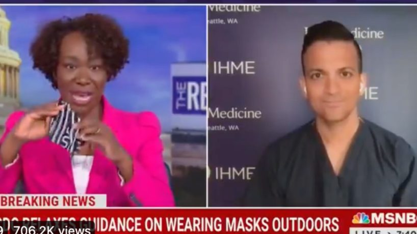 Joy Reid Brags About Wearing Two Masks While Jogging