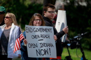 Protest of Eric Holcomb