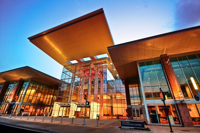 The Indiana Convention Center in downtown Indianapolis.