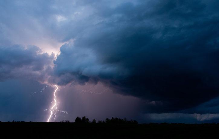 An image of a lightning storm.