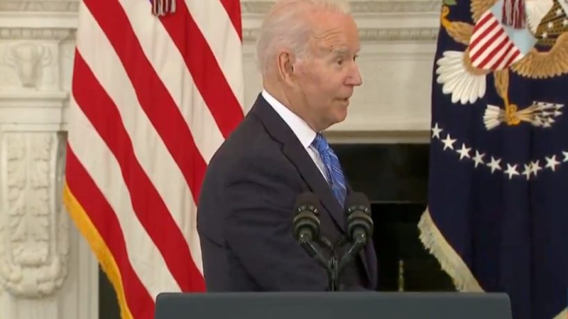 Biden tells reporters he will not take action against China for cyberattacks.