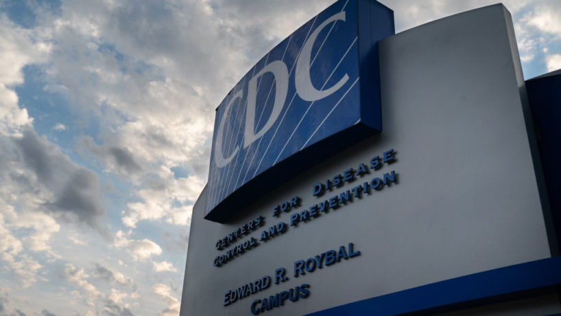 Signage stands outside the Centers for Disease Control and Prevention (CDC) headquarters in Atlanta, Georgia, U.S, on Saturday, March 14, 2020.