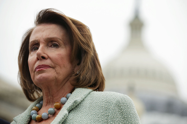 U.S. House Minority Leader Rep. Nancy Pelosi (D-CA) listens during a news conference April 21, 2016 on Capitol Hill in Washington, DC.