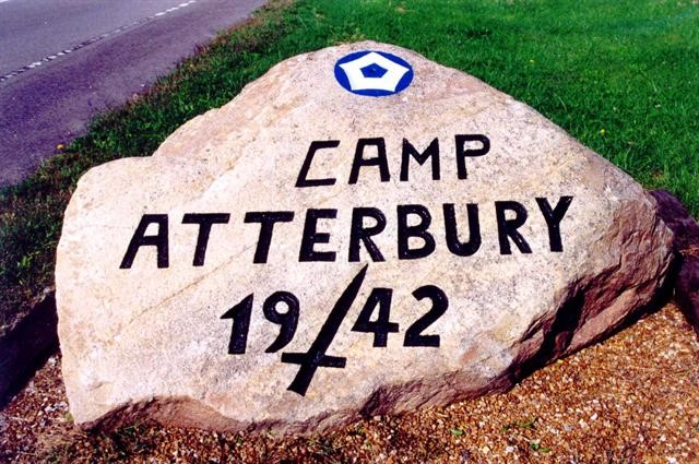 The rock outside Camp Attebrury, Ind.