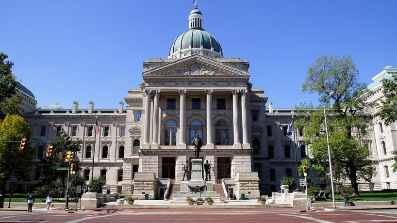 Indiana State Capitol Building, in Indianapolis, Indiana on SEPTEMBER 30, 2012.