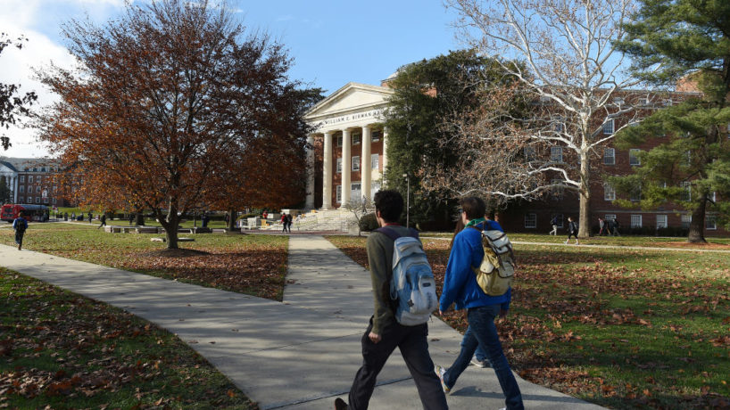 The campus of the University of Maryland, which is a public state school, in College Park, MD, December 7, 2017.