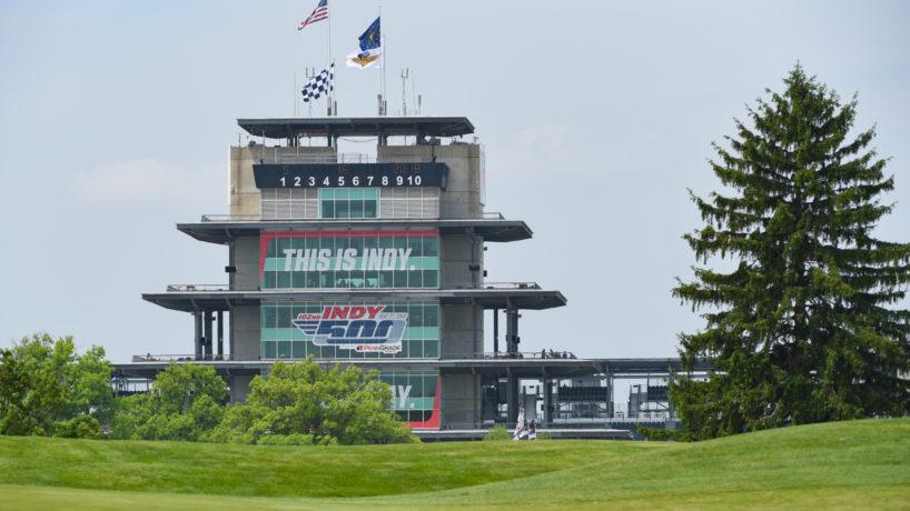 The pagoda at Indianapolis Motor Speedway.
