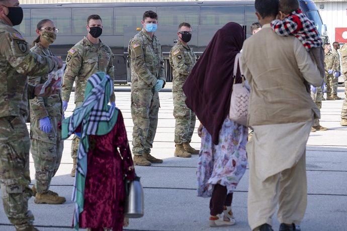 Afghan refugees arriving in Indiana.