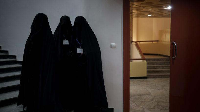 Afghan women in burkas