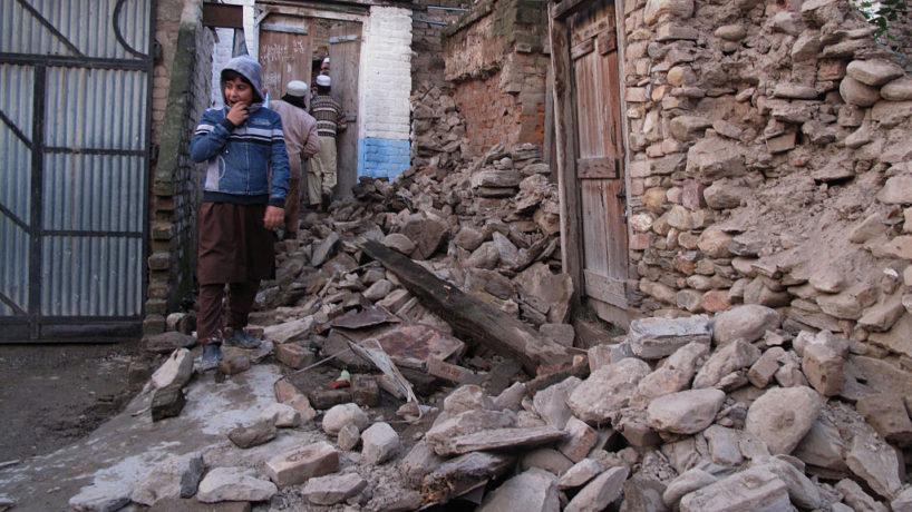 Pakistan earthquake damage