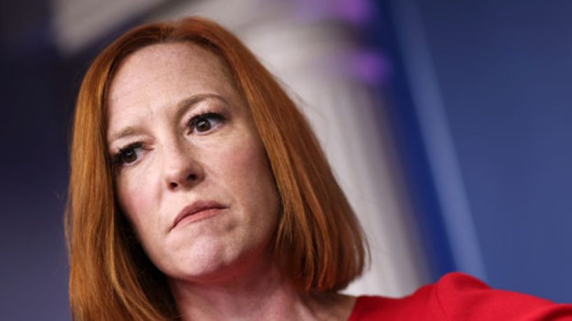 White House Press Secretary Jen Psaki speaks during a press briefing at the White House on October 19, 2021 in Washington, DC. Psaki spoke about the ongoing bipartisan infrastructure bill negotiations. (Photo by Kevin Dietsch/Getty Images)