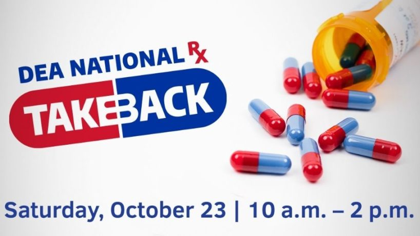 A graphic provided by the DEA for Drug Take Back Day