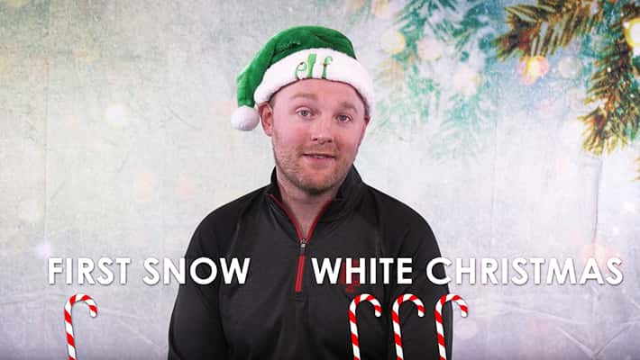 sean copeland holiday poll this or that with first snow and white christmas written on screen