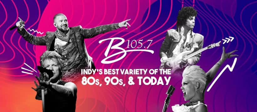 B105.7 Indy's best variety of the 80s, 90s, & today