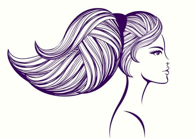 Beauty, makeup and hair salon vector illustration