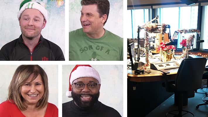 sean copeland, eric allen, ann richards, eric garnes, Indy's Christmas Station studio