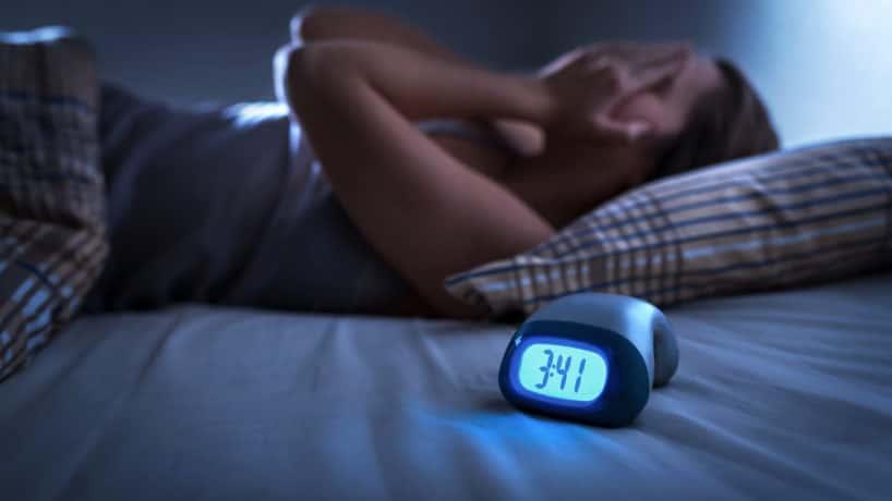 Sleepless woman suffering from insomnia, sleep
