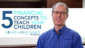 5 Financial Concepts to Teach Your Children, man sitting next to that sign