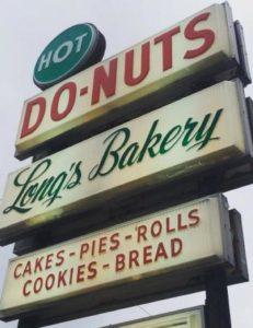 longs donut sign