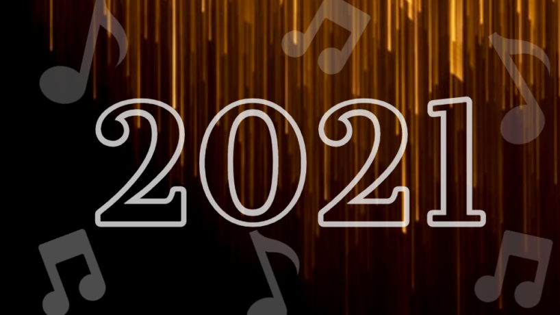 2021 with black and gold background