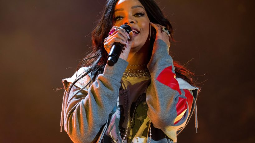 Rihanna performs live onstage at White River State Park on April 4, 2015 in Indianapolis, Indiana