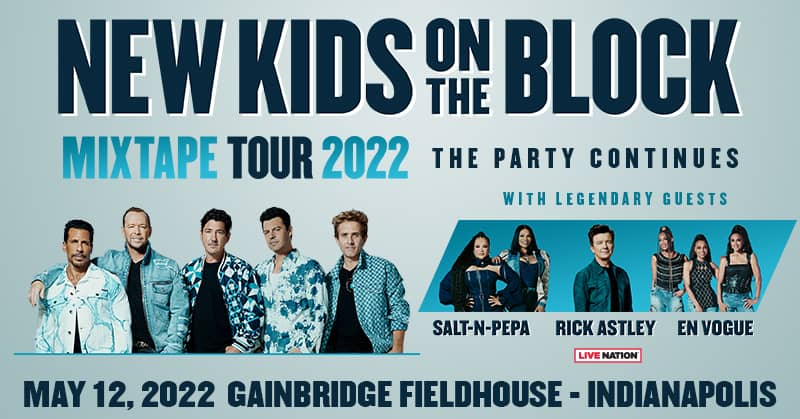new kids on the block at gainbridge fieldhouse on may 12th, 2022