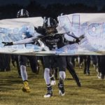 100816-spt-altcar-fb: Carbondale senior defensive back bust onto the field prior to the Carbondale Terriers' home match-up against the Bellville Althoff Crusaders on Friday, Oct. 7, 2016, in Carbondale, Ill. (Ryan Michalesko / For The Southern)