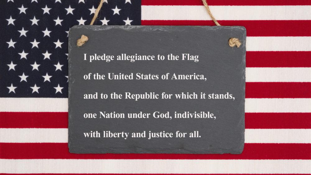 pledge image flag
