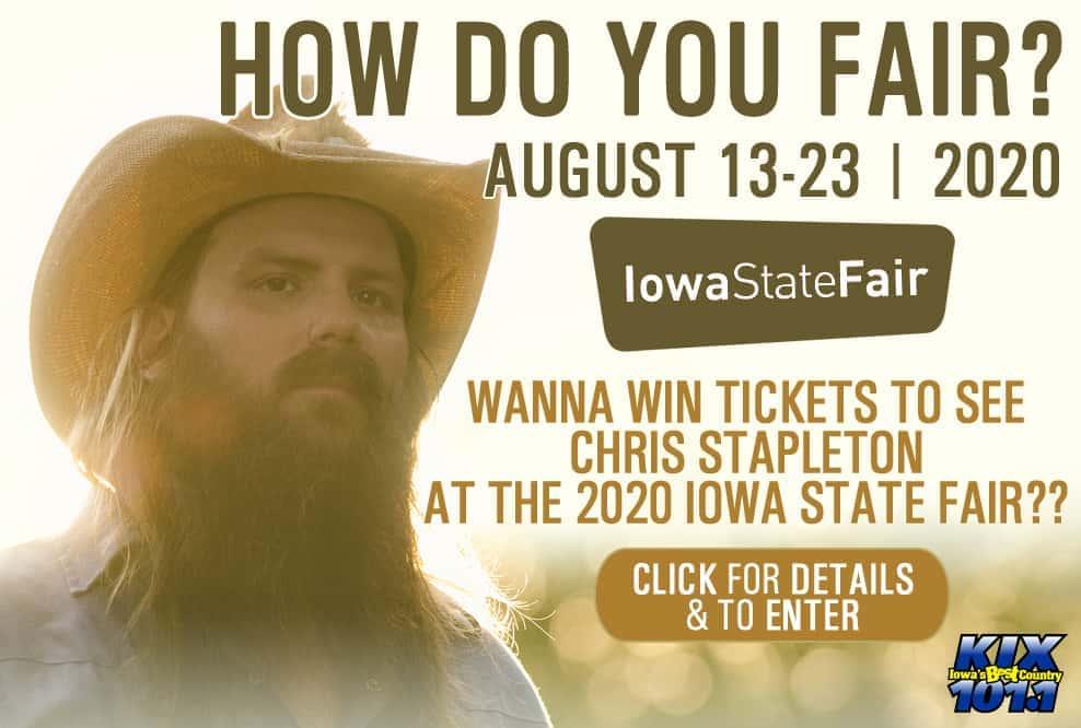 Chris Stapleton To Perform At The 2020 Iowa State Fair Iowa S