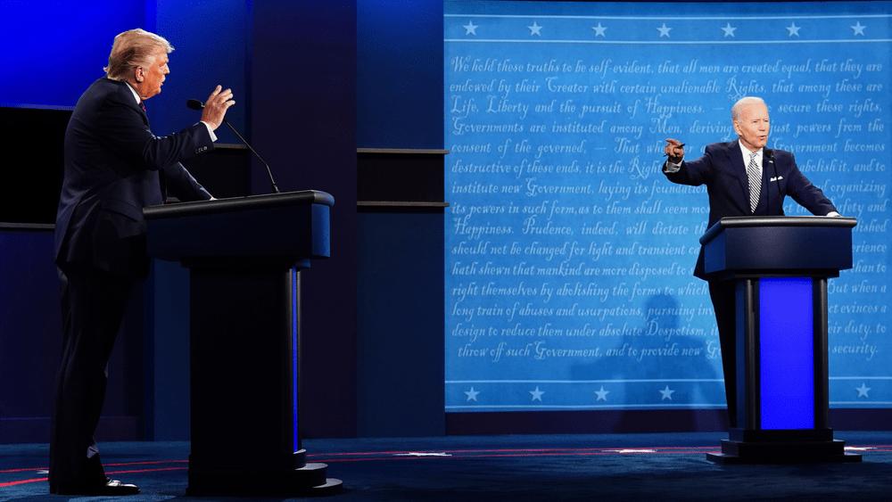 President Trump And Democratic Nominee Joe Biden Face-Off For Last Debate Before Election