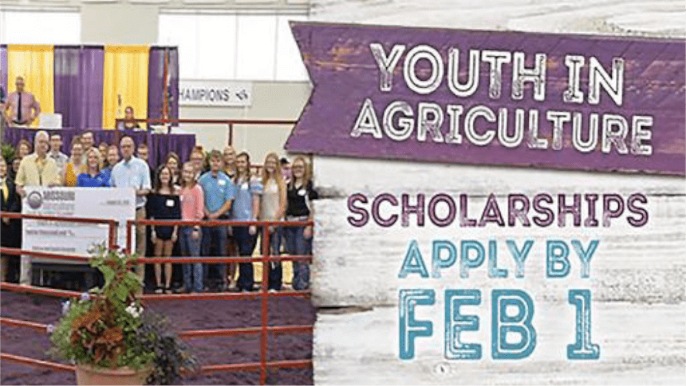 MISSOURI STATE FAIR YOUTH IN AGRICULTURE SCHOLARSHIP APPLICATIONS NOW AVAILABLE