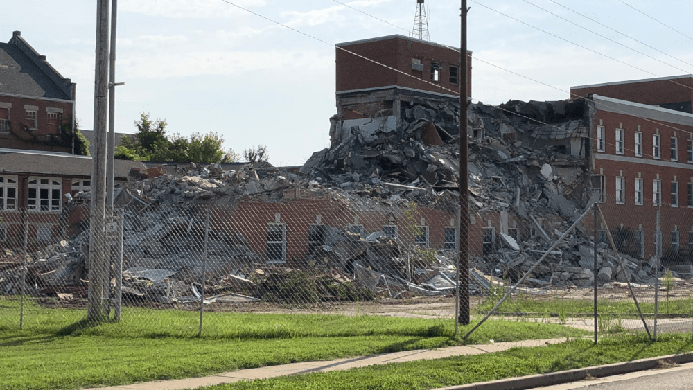 DEMOLITION OF ADMINISTRATION BUILDING ON CAMPUS FORMERLY KNOWN AS MARSHALL HABILITATION CENTER HAS BEGUN