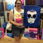 """Caylin: Carole Hylton's daughter, Kaylin joined the fun. Check out that """"Sugar Skull."""""""