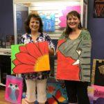 Kathy-and-carol: Kathryn and Carol showcasing their art!