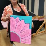 Pat: Sandra's sister, Patricia, joined the ladies for the painting fun.