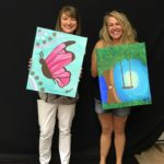 Sherri-and-ginyah: Sherri and Ginyah's finished pieces (Ginyah in mid laugh)