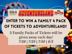 Enter to Win Adventureland Tickets!