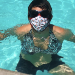 Bailie masked in Pool at Calistoga Motor Lodge #staycation: Because you can never be too safe!