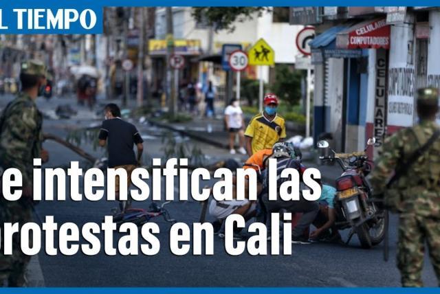 Se intensifican las protestas en Cali Colombia