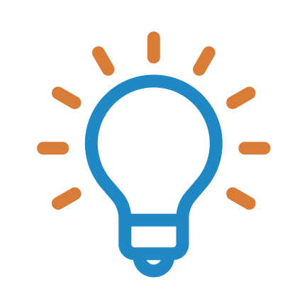 light bulb blue and orange