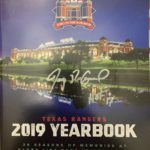 Pudge Autographed 2019 Texas Rangers Yearbook