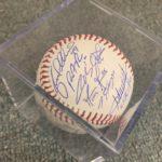 2018 Rangers Autographed Baseball