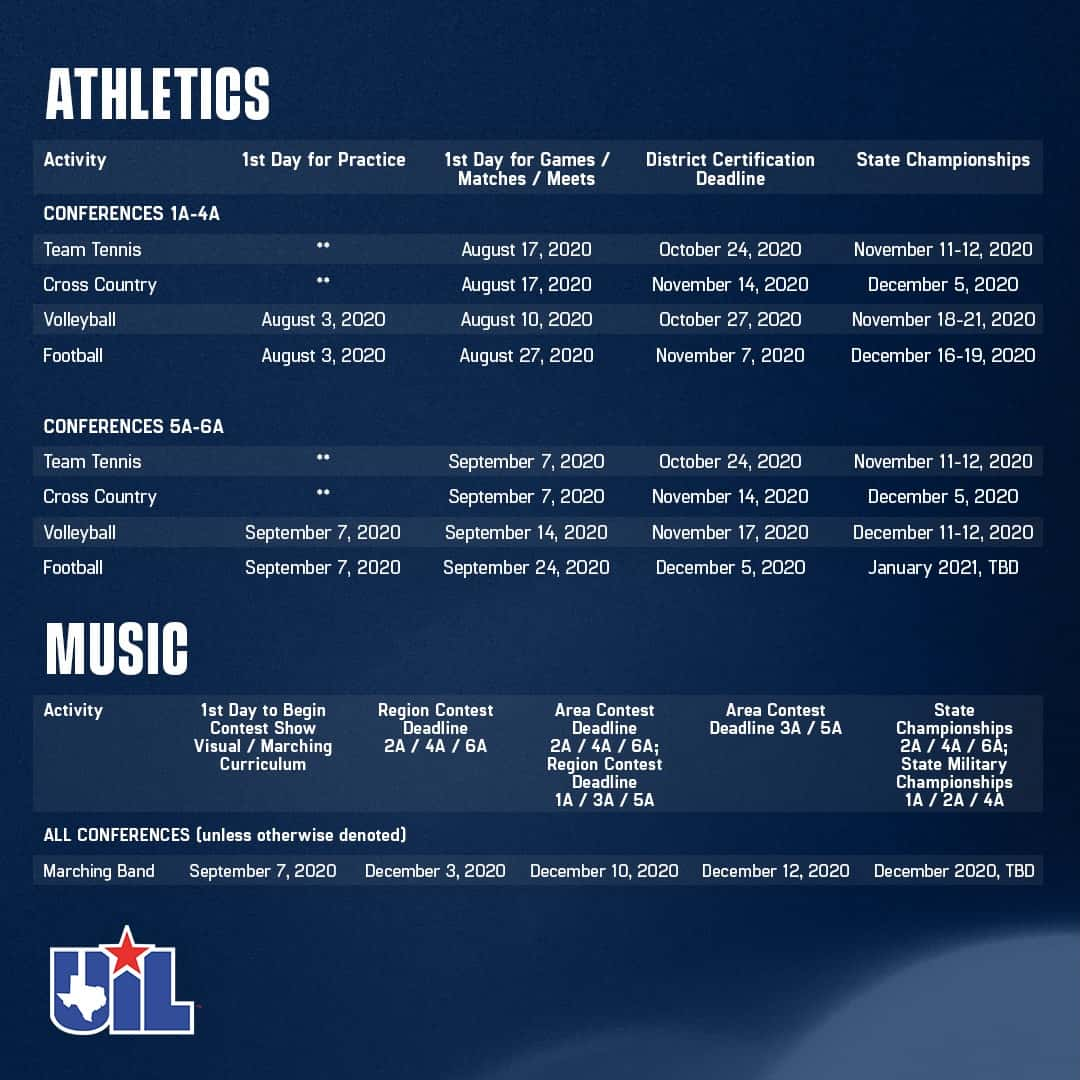 Barry University Fall 2021 Calendar UIL Releases Modifications to Fall Sports/Music Schedule |