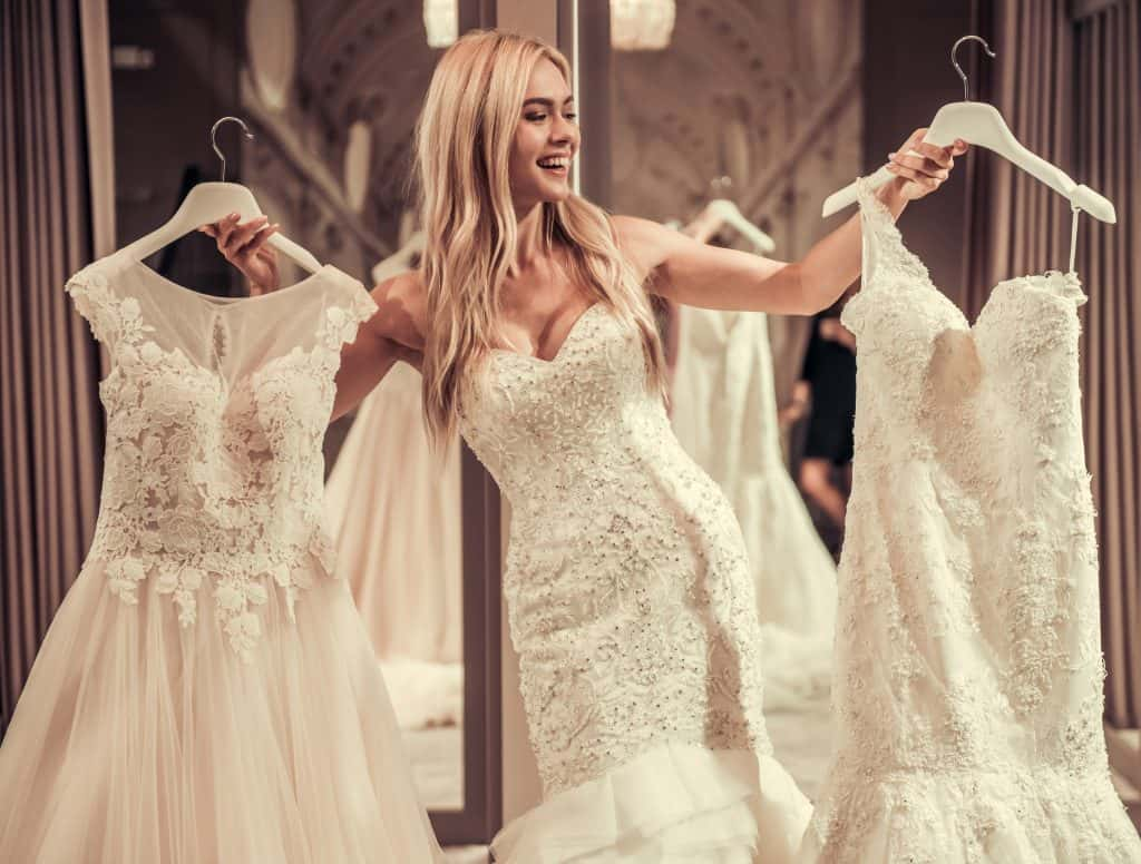 Trying Wedding Dresses From Wish 92 9 The Beat