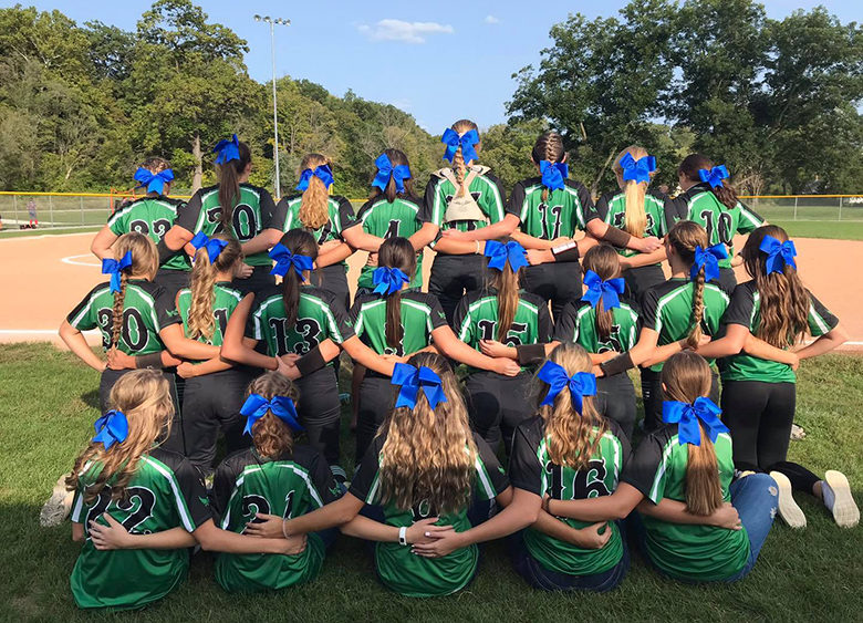 Lady Owls wear blue ribbons for Type 1 Diabetes