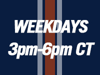 WeekDays 3pm-6pm CT