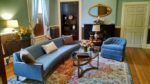 Relax in our beautiful living room after a day of shopping, history, and outdoor fun