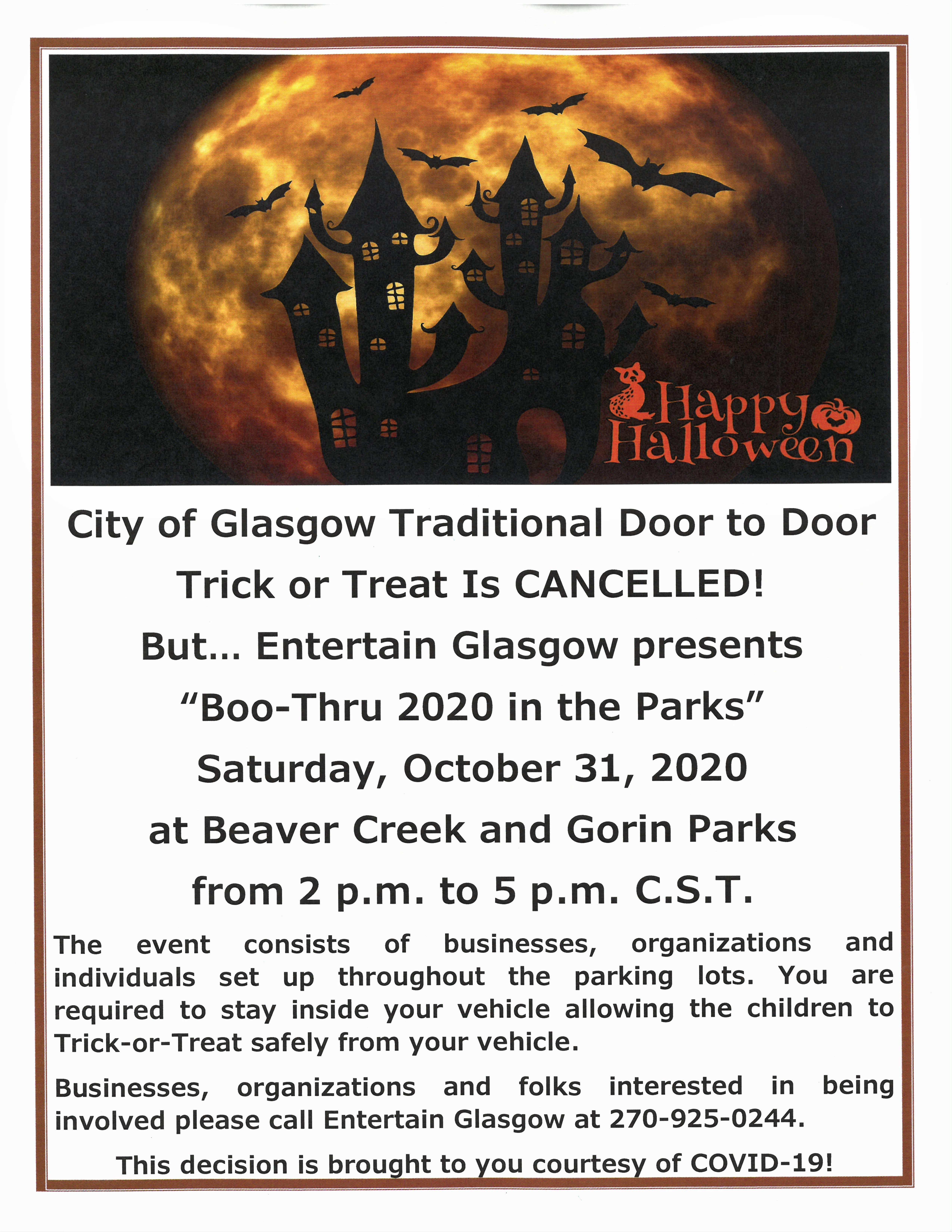 2020 Halloween Events In And Near Glasgow Ky City retracts statement regarding Halloween, regular activities
